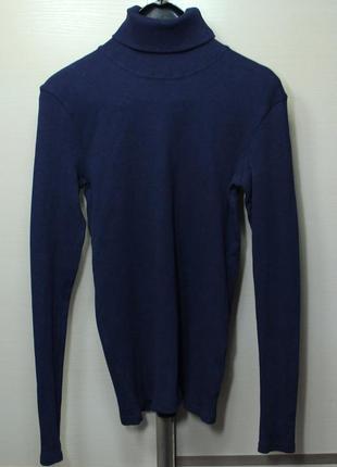 Темно-синий водолазка гольф musthave
