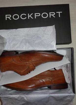 Новые мужские кожаные туфли оксфорды rockport wingtip perf perforated