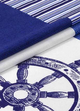 Мореход - постельное белье для мальчиков морская тематика (поплин, 100% хлопок)2 фото