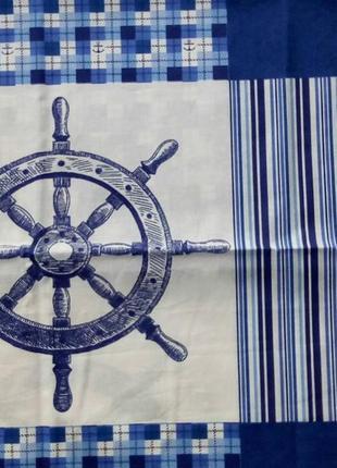 Мореход - постельное белье для мальчиков морская тематика (поплин, 100% хлопок)3 фото