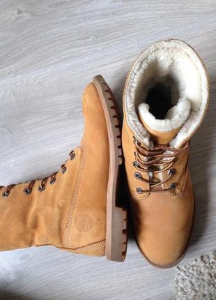Высокие зимние ботинки timberland (38р), оригинал