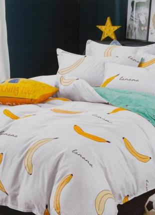 Подростковое полуторное постельное белье viluta сатин 238 бананы