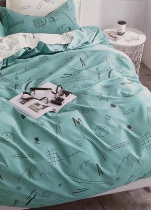 Подростковое полуторное постельное белье viluta сатин 227 абстракция