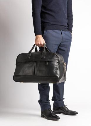 Презентабельная стильная кожаная дорожная сумка для спортзала ручная работа