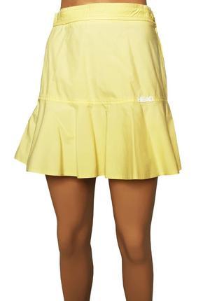 Летняя хлопковая юбка лимонного цвета, размер xs-s