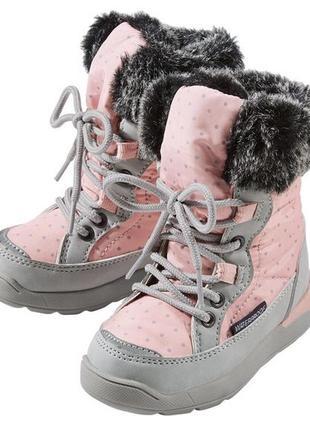 Удобные ботинки для девочек lupilu 20р.-24р. водонепроницаемый, дышащий материал...