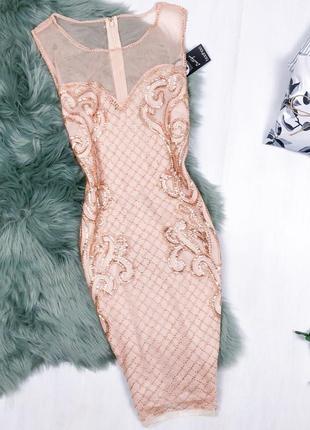Cукня преміальної колекції 2018року \ платье премиум расшитое бисером и пайетками boohoo 