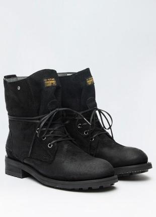Мега крутые ботинки g star raw из нубука на низком каблуке