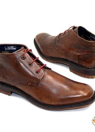 Ботинки кожа 45 р bugatti оригинал демисезон
