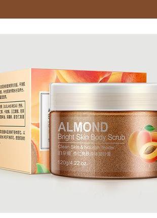 Миндальный скраб для тела bioaqua almond bright skin body scrub 120г