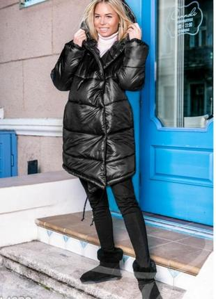 Тёплое стеганое пальто, куртка, эко пуховик, зефирка