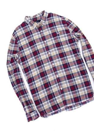 Рубашка в клетку fred perry. размер l