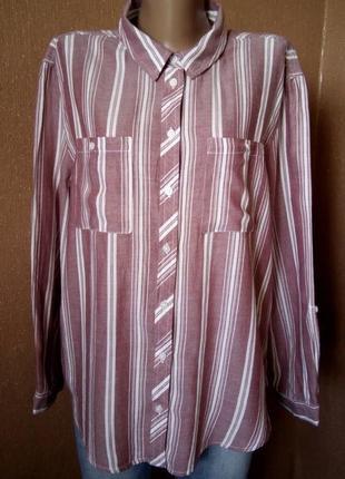Рубашка в полоску не принт с накладными карманами размер 18-20 primark