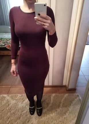 Платье миди по фигуре размер с-м