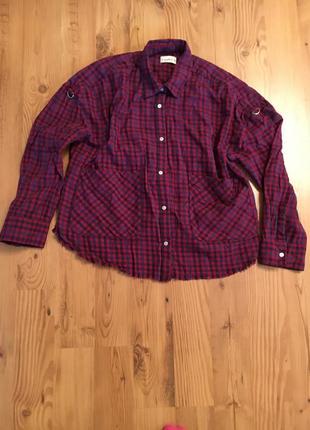 Рубашка в клетку pull & bear
