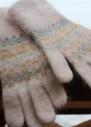 Перчатки теплые ангора рукавички