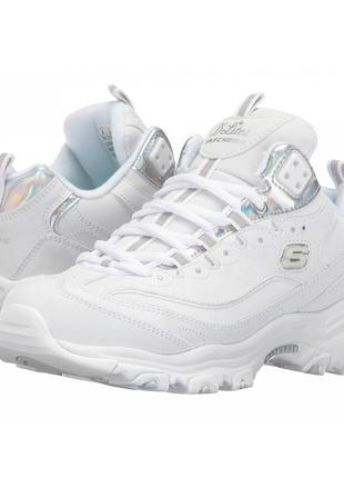 Кроссовки skechers d'lites - style rethink white/silver 41р