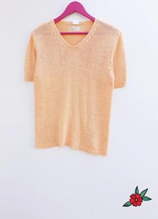 Нежный свитерок джемпер персикового цвета красивый джемпер