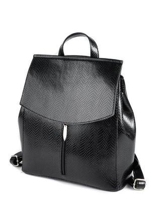 Сумка-рюкзак женская трансформер через плечо под кожу питона