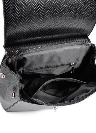 Сумка-рюкзак женская трансформер через плечо под кожу питона3