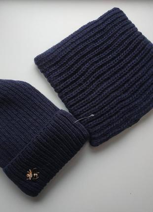 Комплект шапка и хомут, 50% шерсть отличного качества!