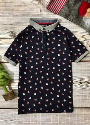 Новогодняя футболка matalan 6-7лет, р.116-122см