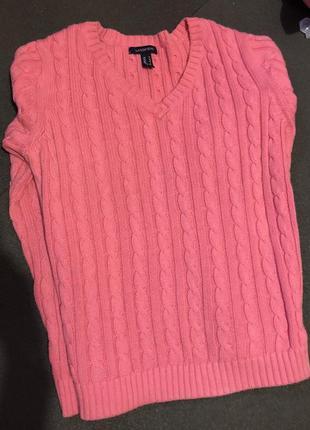 Тёплый, вязаный свитер1