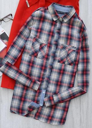 Хлопковая рубашка в клетку zara ❤️