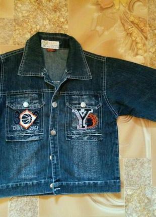 Джинсовый пиджак на рост 116-122