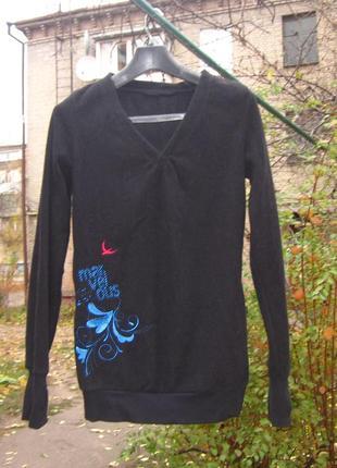 Длинная флисовая кофта свитер флиска maui wowie размер 38 m