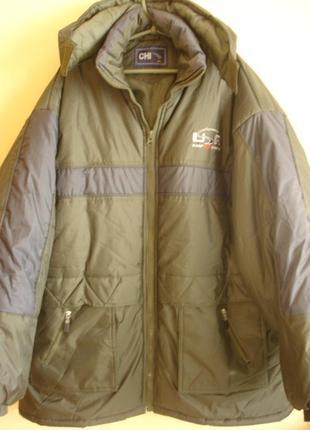 """Зимняя длинная куртка  """" c h i"""" 58-60 р. сток"""