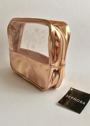 Золота водонепроникна косметичка sephora usa