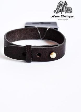 Красивый и изысканный кожаный браслет pilgrim