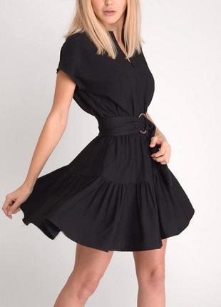 Xs-s темпераментное черное платье от tanya prince. летнее, весеннее, осеннее