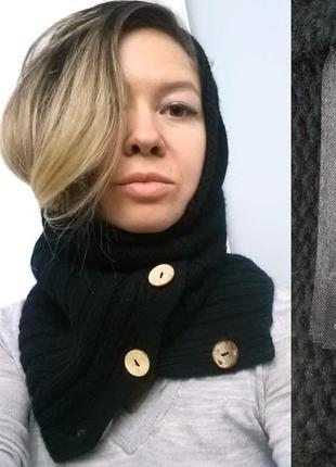Капор воротник зимний вязаный шарф h&m