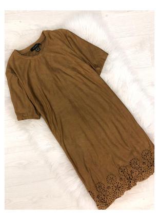 Платье сукня замш замшевое primark