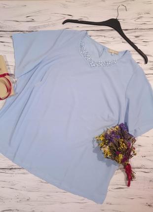 Красивая блуза с кружевом большой размер