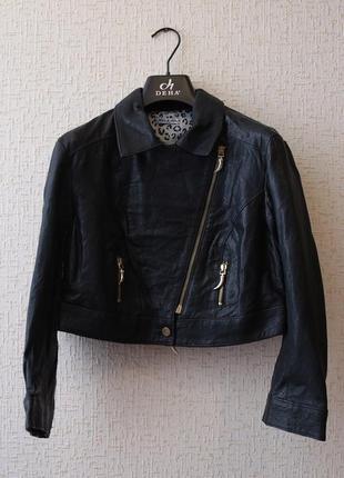 Укороченная кожаная куртка косуха kor@kor (италия)