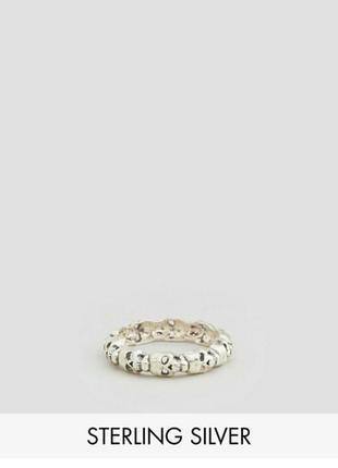 Кольцо с черепами серебро asos