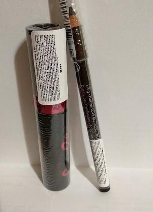 Набор  карандаш для контура глаз 3 в 1и тушь для ресниц ультраобъем
