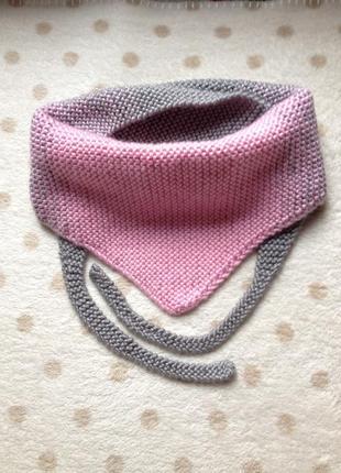 Вязаный бактус шарф для девочки1