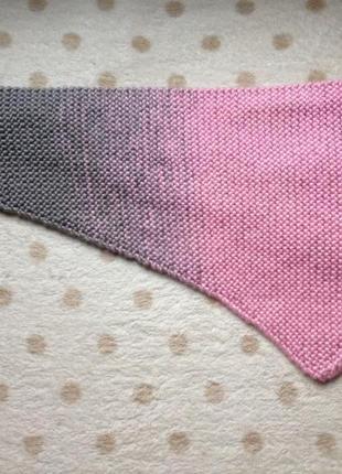 Вязаный бактус шарф для девочки3