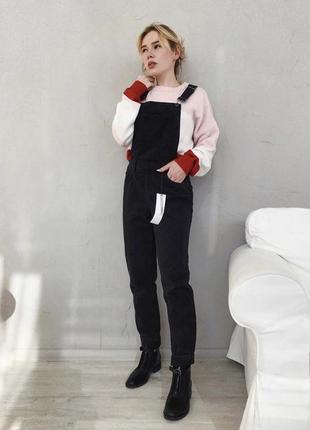 Бойфренд комбинезон плотный джинс new look