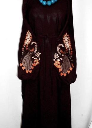 Этноплатье, бохоплатье, вышиванка, платье с вышивкой