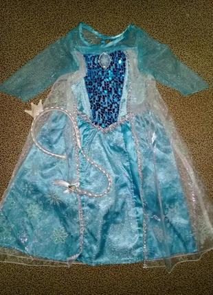 Карнавальное платье эльзы на 3 года.