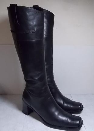 Кожаные сапоги vera pelle( италия) р.40