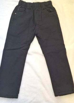 Утепленные серые зимние штаны брюки на флисе на рост 98-104см seagull