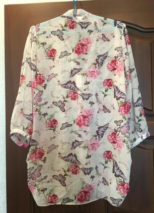 Удлиненная блуза/ рубашка / пог 542