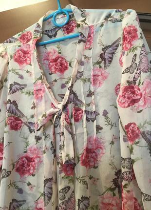 Удлиненная блуза/ рубашка / пог 543