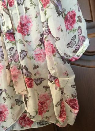 Удлиненная блуза/ рубашка / пог 544